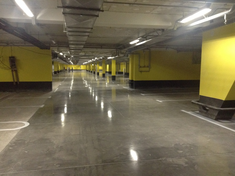 SLEEK FLOORS | Polished Concrete Parking Project | Concrete Cleaning and Concrete Floor Polishing